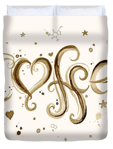 I Love Coffee Duvet Cover