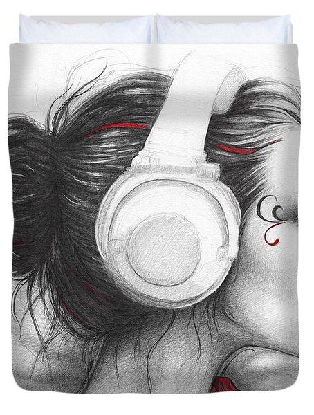 I Love Music Duvet Cover