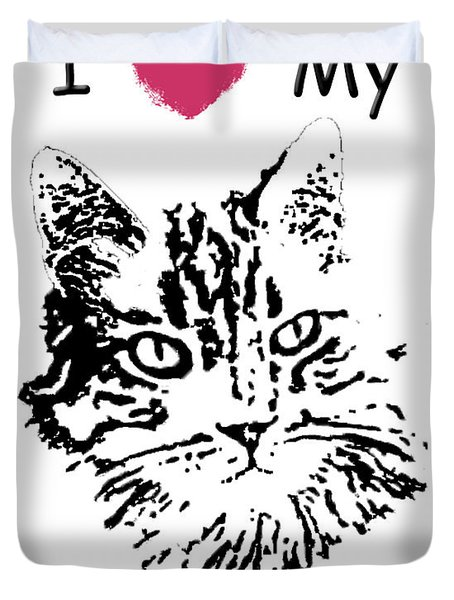 I Love My Veterinarian Duvet Cover by Robyn Stacey