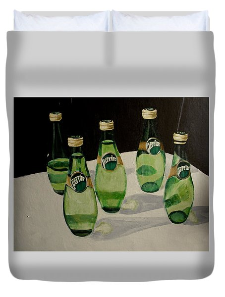 I Love Perrier Duvet Cover