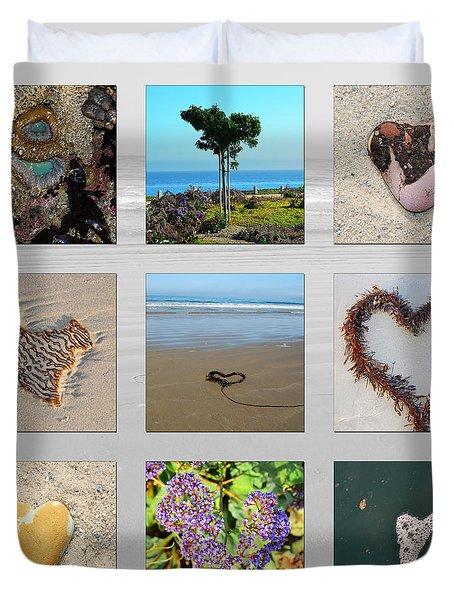 Duvet Cover featuring the photograph I Love Pismo Beach by Debra Thompson