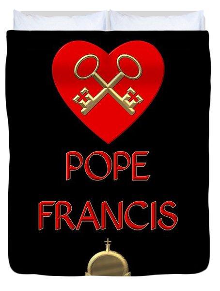 I Love Pope Francis Duvet Cover
