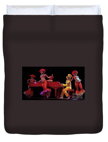 I Love Rock And Roll Music Duvet Cover