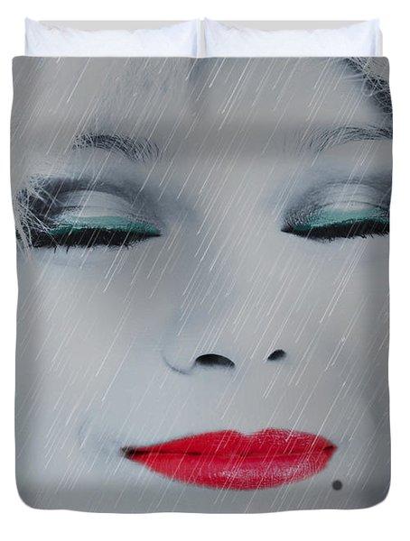 I Love To Smell Fresh Rain Duvet Cover by EricaMaxine  Price