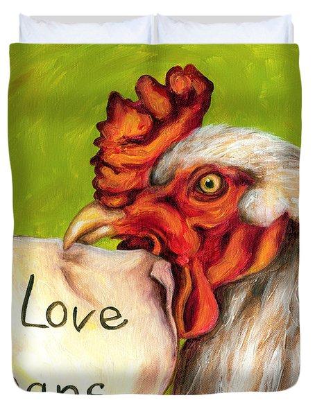 I Love Vegans Duvet Cover