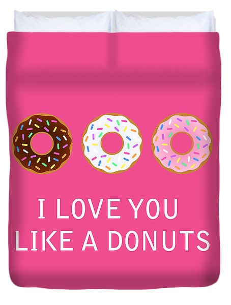 I Love You 7 Duvet Cover