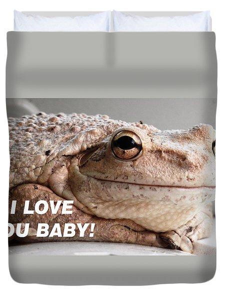 Frog Declaration Of Love Duvet Cover