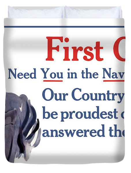 I Need You In The Navy - Uncle Sam Wwi Duvet Cover