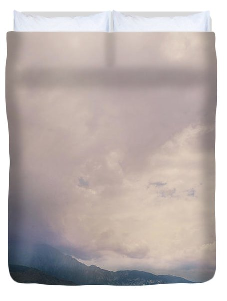 I Predict Rain Duvet Cover by Laurie Search