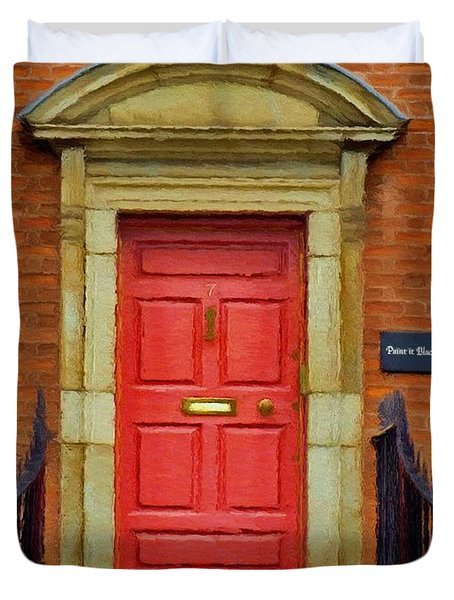 I See A Red Door Duvet Cover by Jeff Kolker
