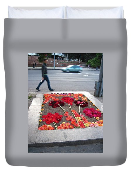I See Flowers For You Everywhere Duvet Cover by Mary Lee Dereske