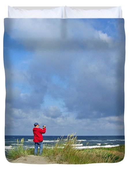 I See The Sea. Juodkrante. Lithuania Duvet Cover by Ausra Huntington nee Paulauskaite