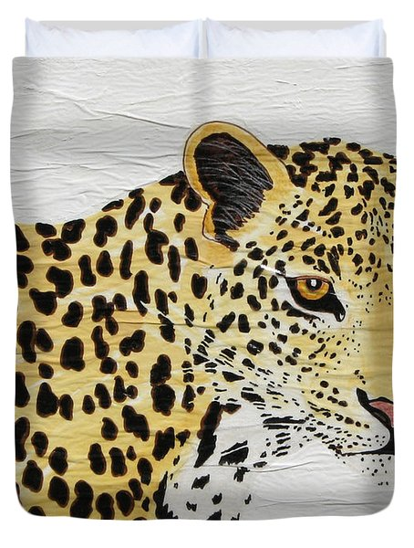 Duvet Cover featuring the painting I See You 2 by Stephanie Grant
