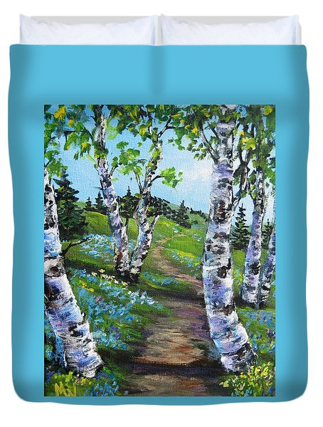 I Think I Will Walk Duvet Cover