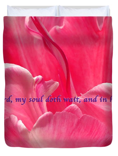 I Wait Duvet Cover by Terry Wallace