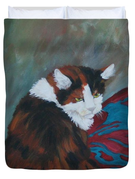 I Want My Lap Duvet Cover by Gail Daley