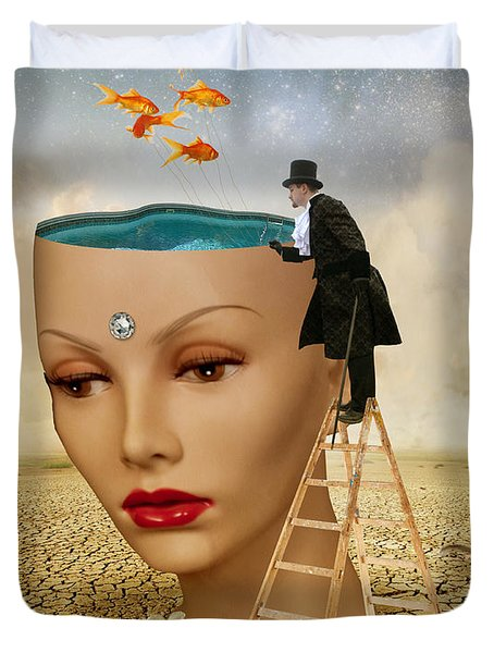 I Want To Look Inside Your Head Duvet Cover