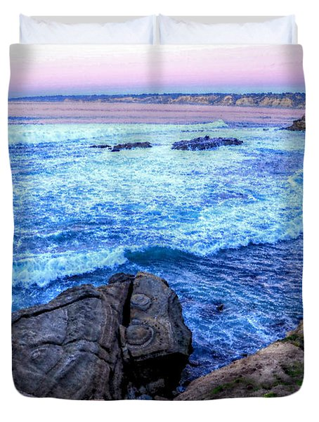 I Will Put You In A Cleft In The Rock Duvet Cover by Sharon Soberon
