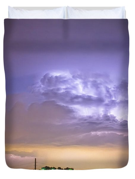 I25 Intra-cloud Lightning Strikes Duvet Cover by James BO  Insogna