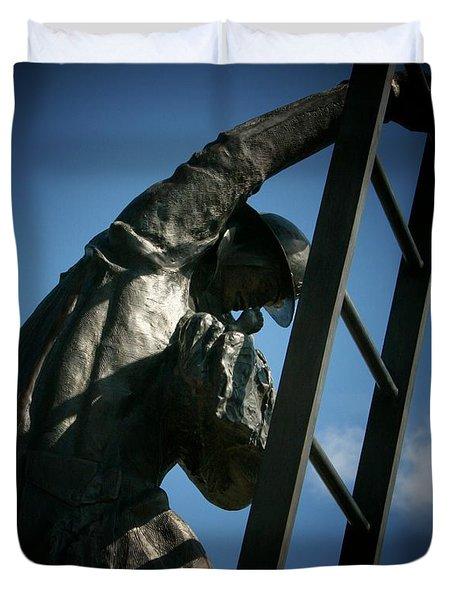 Iaff Fallen Firefighters Memorial  2 Duvet Cover by Susan  McMenamin
