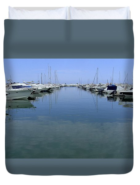 Ibiza Harbour Duvet Cover