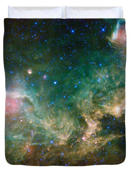Ic 2177-seagull Nebula Duvet Cover by Science Source