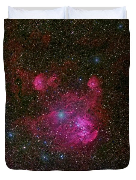 Ic 2944, A Large H II Region Duvet Cover by Robert Gendler