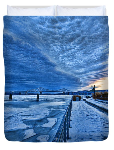 Ice Station Hudson Duvet Cover by Jeffrey Friedkin