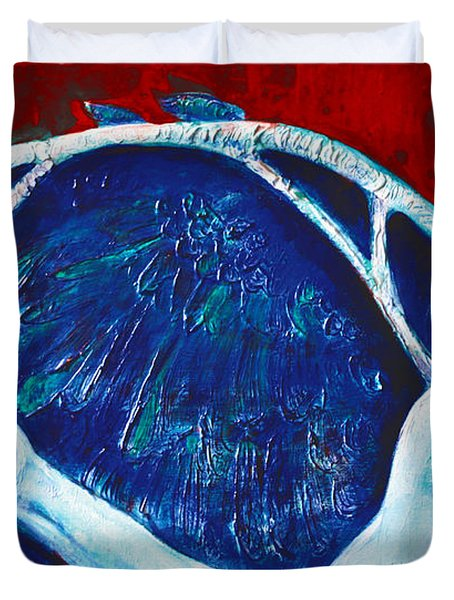 Icarus Duvet Cover by Derrick Higgins