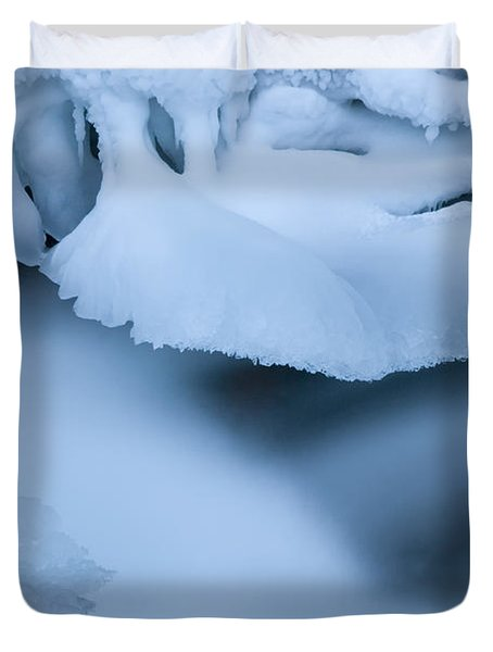 Ice 19 Duvet Cover by Bob Christopher