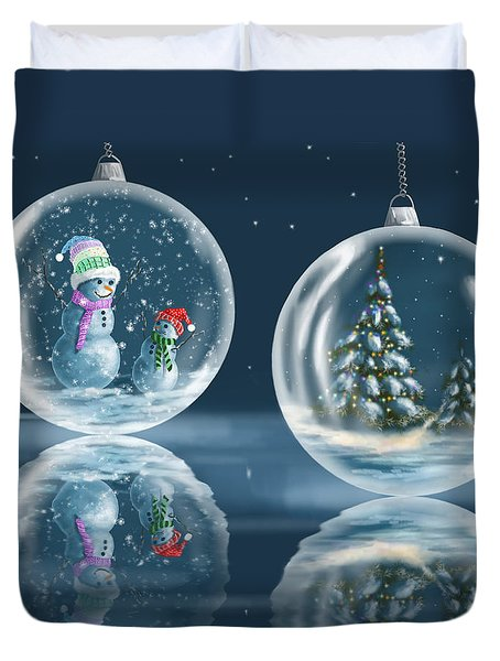 Ice Balls Duvet Cover by Veronica Minozzi