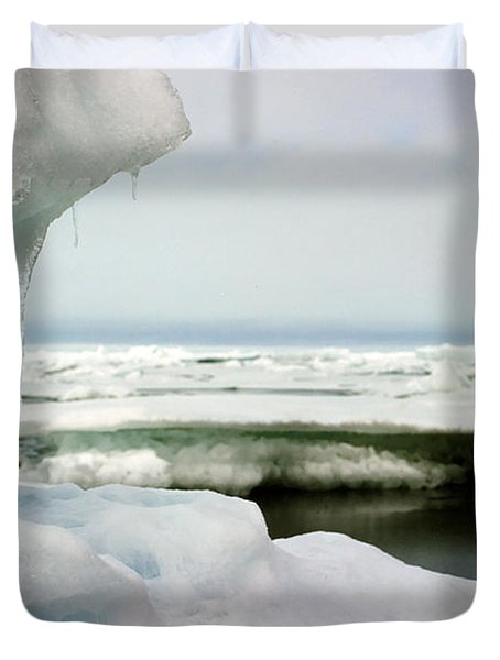 Duvet Cover featuring the photograph Ice Barrow Alaska July 1969 By Mr. Pat Hathaway by California Views Mr Pat Hathaway Archives