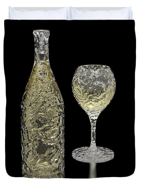 Ice Bottle And Glass Duvet Cover by Hakon Soreide