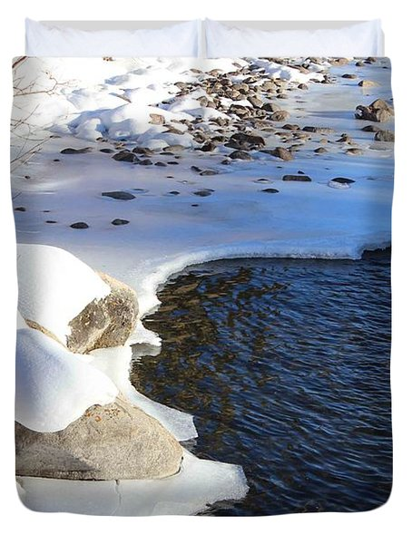 Ice Cold Water Duvet Cover by Fiona Kennard