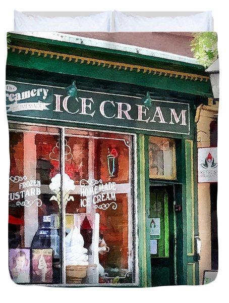 Alexandria Va - Ice Cream Parlor Duvet Cover