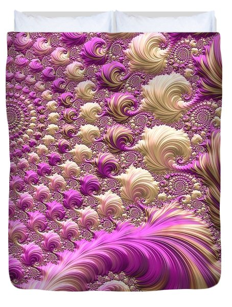 Duvet Cover featuring the digital art Ice Cream Social by Susan Maxwell Schmidt