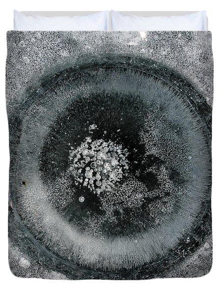 Ice Fishing Hole 9 Duvet Cover by Steven Ralser