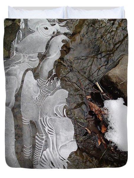 Ice Flow Duvet Cover by Robert Nickologianis