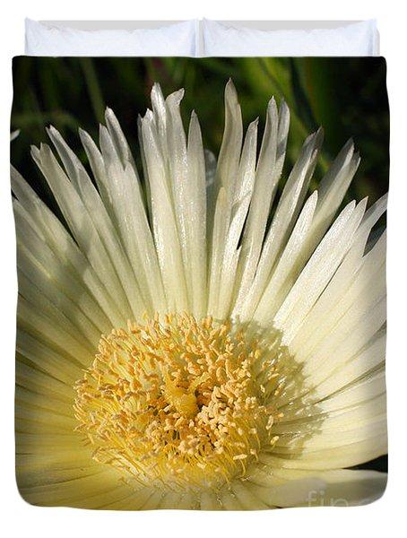 Ice Flowers Duvet Cover