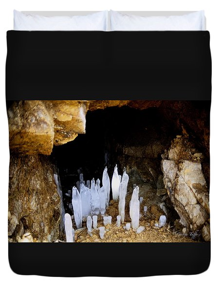 Ice In A Cave Duvet Cover