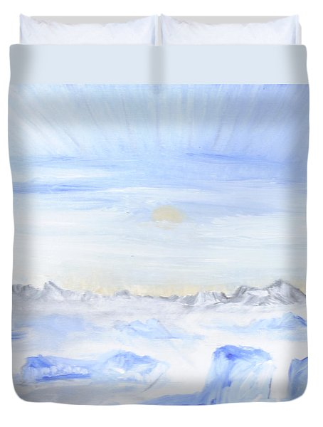 Ice Movement Duvet Cover