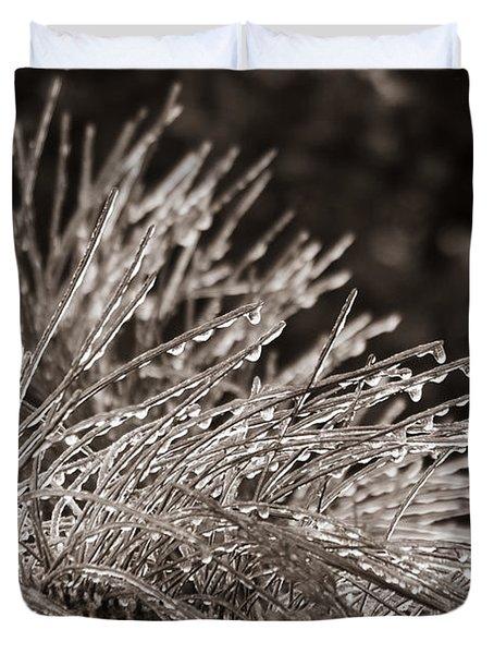 Ice On Pine Duvet Cover