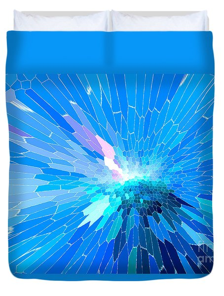 Duvet Cover featuring the photograph Ice Queen by Mariarosa Rockefeller