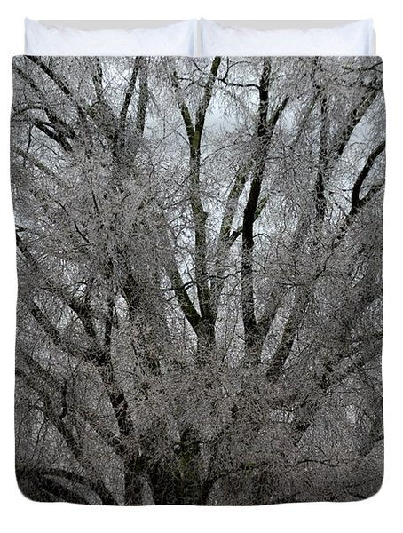 Ice Sculpture Duvet Cover