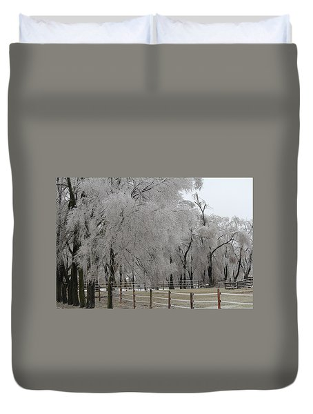 Ice Trees Duvet Cover