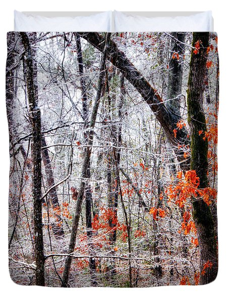 Ice Trees Duvet Cover