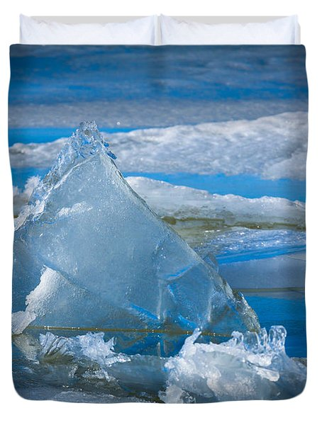 Ice Triangle Duvet Cover by Inge Johnsson