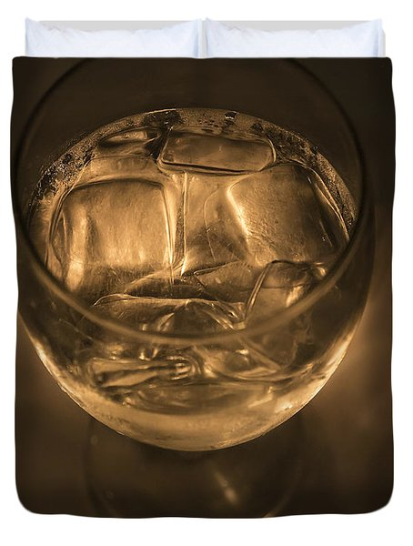 Ice Water By Candle Light Duvet Cover by Angela A Stanton
