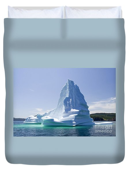 Duvet Cover featuring the photograph Iceberg Canada by Liz Leyden