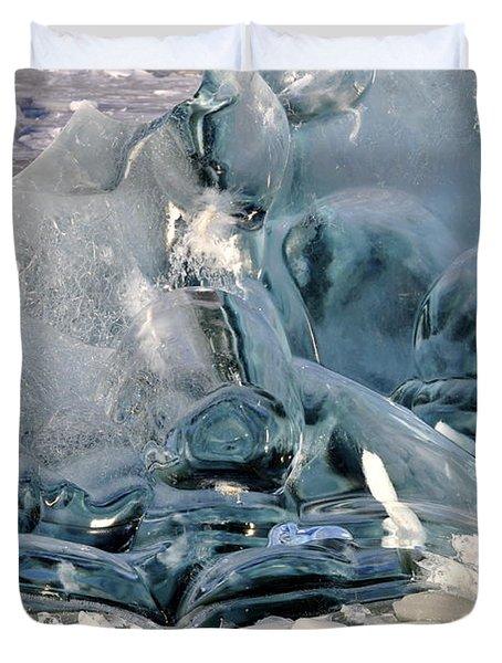 Iceberg Detail Duvet Cover by Cathy Mahnke